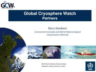 Global Cryosphere Watch Partners