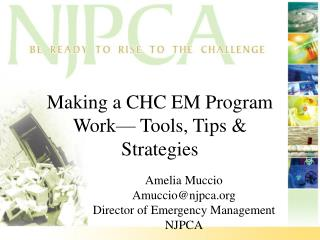 Making a CHC EM Program Work— Tools, Tips & Strategies