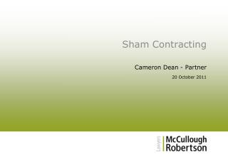 Sham Contracting
