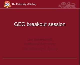 GEG breakout session