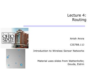 Lecture 4:  Routing