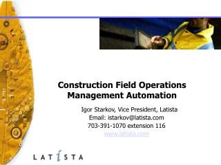 Construction Field Operations Management Automation