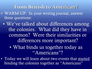 From British to American?