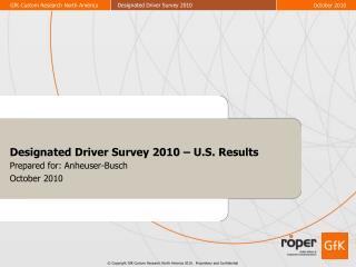Designated Driver Survey 2010 – U.S. Results