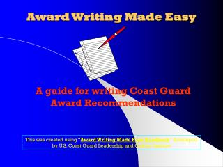Award Writing Made Easy