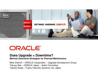 Does Upgrade  Downtime Minimal Downtime Strategies for Planned Maintenance