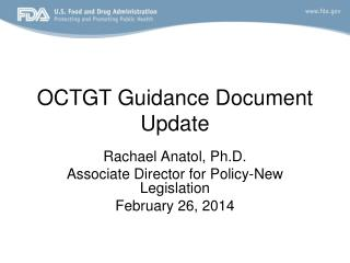 OCTGT Guidance Document Update