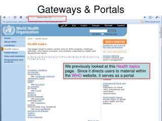 Gateways & Portals