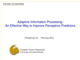 Adaptive Information Processing:  An Effective Way to Improve Perceptron Predictors