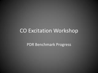 CO  Excitation  Workshop