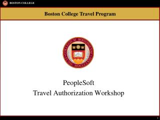 PeopleSoft  Travel Authorization Workshop