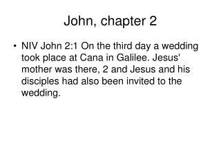 John, chapter 2
