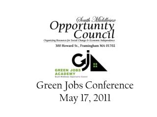 Green Jobs Conference  May 17, 2011
