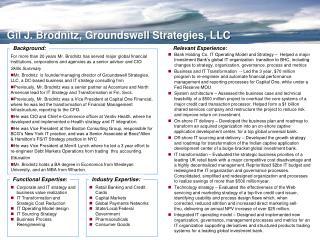 Gil J. Brodnitz, Groundswell Strategies, LLC