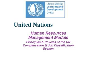 United Nations Human Resources Management Module