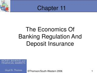 The Economics Of Banking Regulation And Deposit Insurance