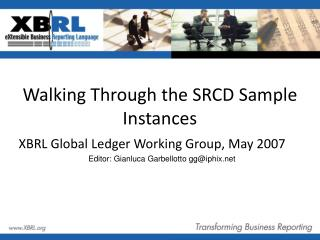 Walking Through the SRCD Sample Instances