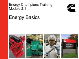 Energy Champions Training Module 2.1 Energy Basics