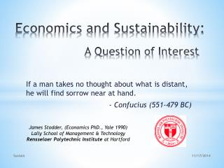 Economics and Sustainability: