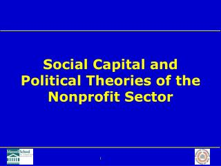 Social Capital and Political Theories of the Nonprofit Sector