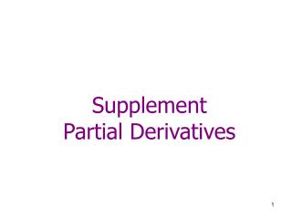 Supplement Partial Derivatives