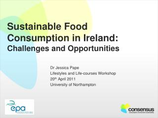 Sustainable Food Consumption in Ireland: Challenges and Opportunities