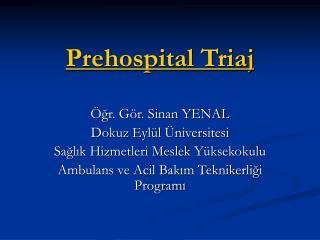 Prehospital Triaj