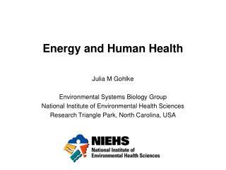 Energy and Human Health