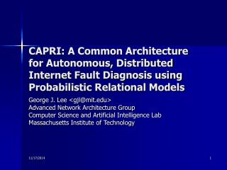 George J. Lee <gjl@mit> Advanced Network Architecture Group