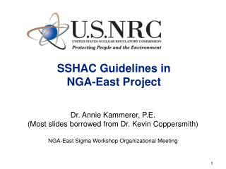 SSHAC Guidelines in  NGA-East Project