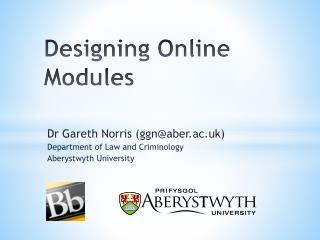 Designing Online Modules