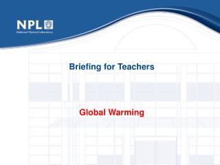 Briefing for Teachers