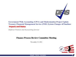 Finance Process Review Committee Meeting November 15, 2011