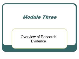Module Three