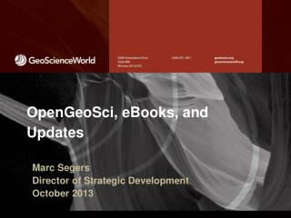 OpenGeoSci , eBooks, and Updates