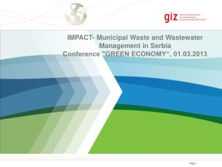 IMPACT-  Municipal Waste and Wastewater Management in Serbia