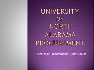 University of North Alabama Procurement