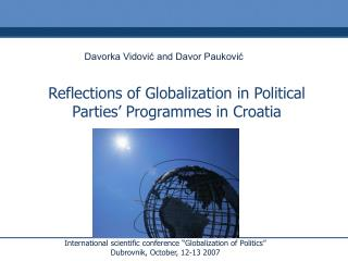 Reflections of Globalization in Political Parties' Programmes in Croatia