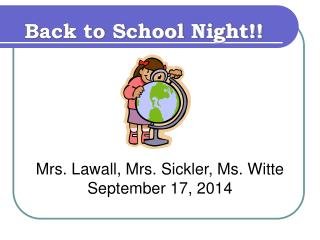 Back to School Night!!