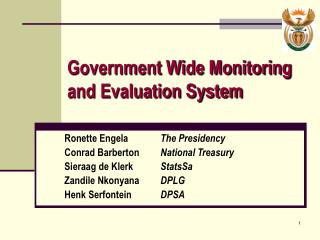 Government Wide Monitoring and Evaluation System