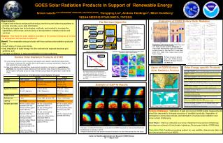 GOES Solar Radiation Products in Support of  Renewable Energy
