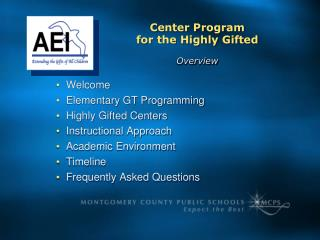 Welcome Elementary GT Programming Highly Gifted Centers Instructional Approach