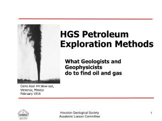 HGS Petroleum Exploration Methods
