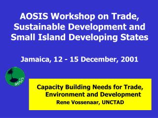 Capacity Building Needs for Trade, Environment and Development Rene Vossenaar, UNCTAD