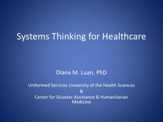 Systems Thinking for Healthcare