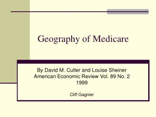 Geography of Medicare