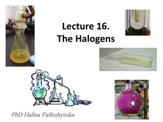 Lecture 16. The Halogens