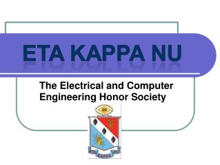 The Electrical and Computer Engineering Honor Society