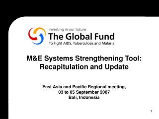 ME Systems Strengthening Tool