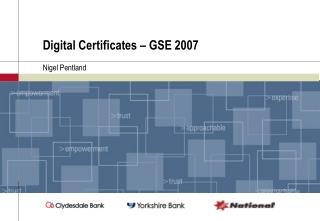 Digital Certificates – GSE 2007